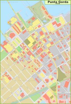 Punta Gorda city center map