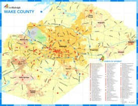 Wake County tourist map