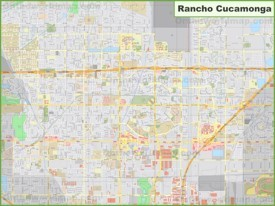 Large detailed map of Rancho Cucamonga