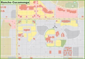 Rancho Cucamonga downtown map