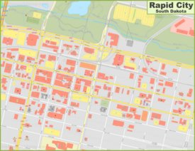 Rapid City downtown map