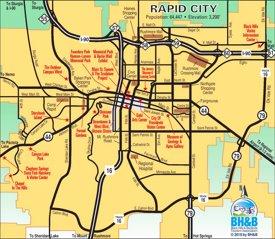 Rapid City tourist map