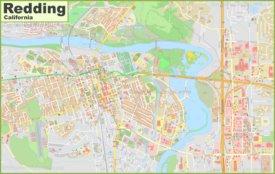 Large detailed map of Redding