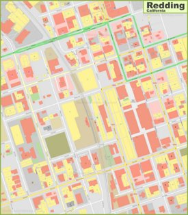 Redding downtown map