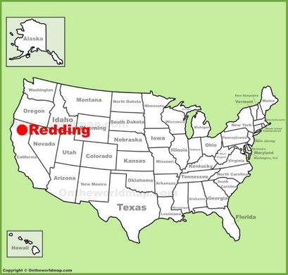 Redding Location Map