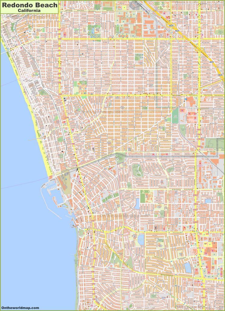 Detailed Map of Redondo Beach