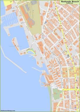 Redondo Beach City Center Map
