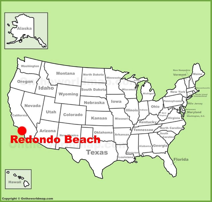 Redondo Beach location on the U.S. Map