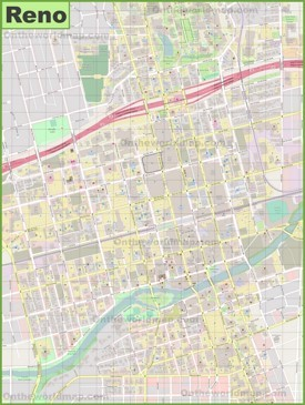 Reno downtown map