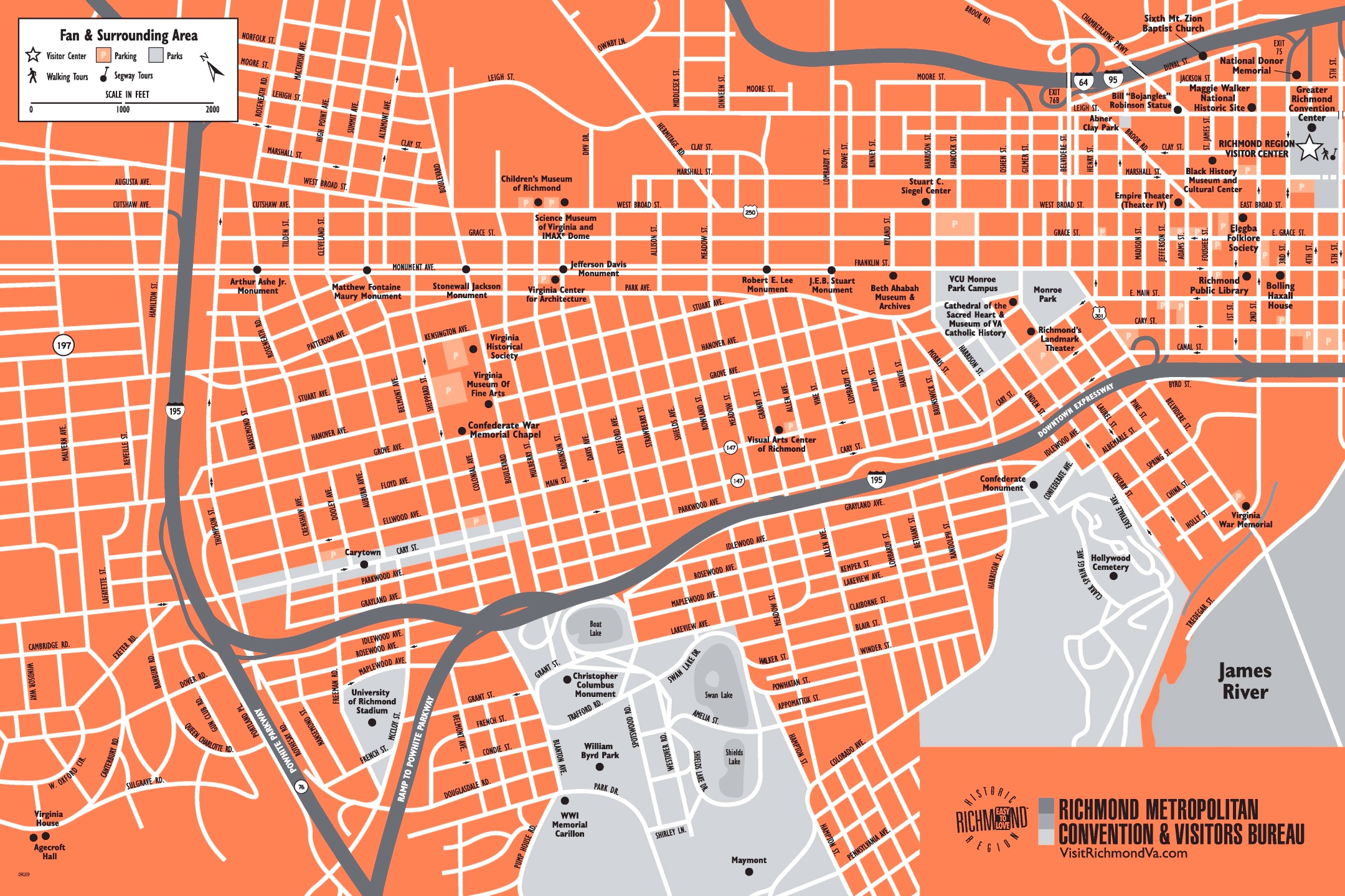 Richmond tourist map