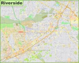 Large detailed map of Riverside