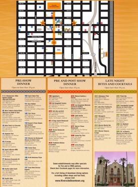 Riverside dining map
