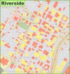 Riverside downtown map
