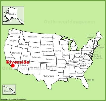 Karte / Map ~ Riverside, Kalifornien / California ...