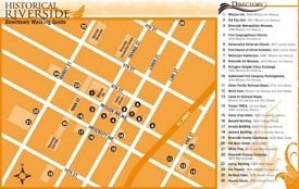 Riverside sightseeing map