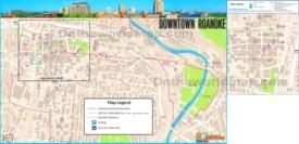 Roanoke downtown map