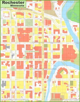 Rochester (Minnesota) downtown map