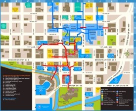 Rochester (Minnesota) hotels and sightseeings map