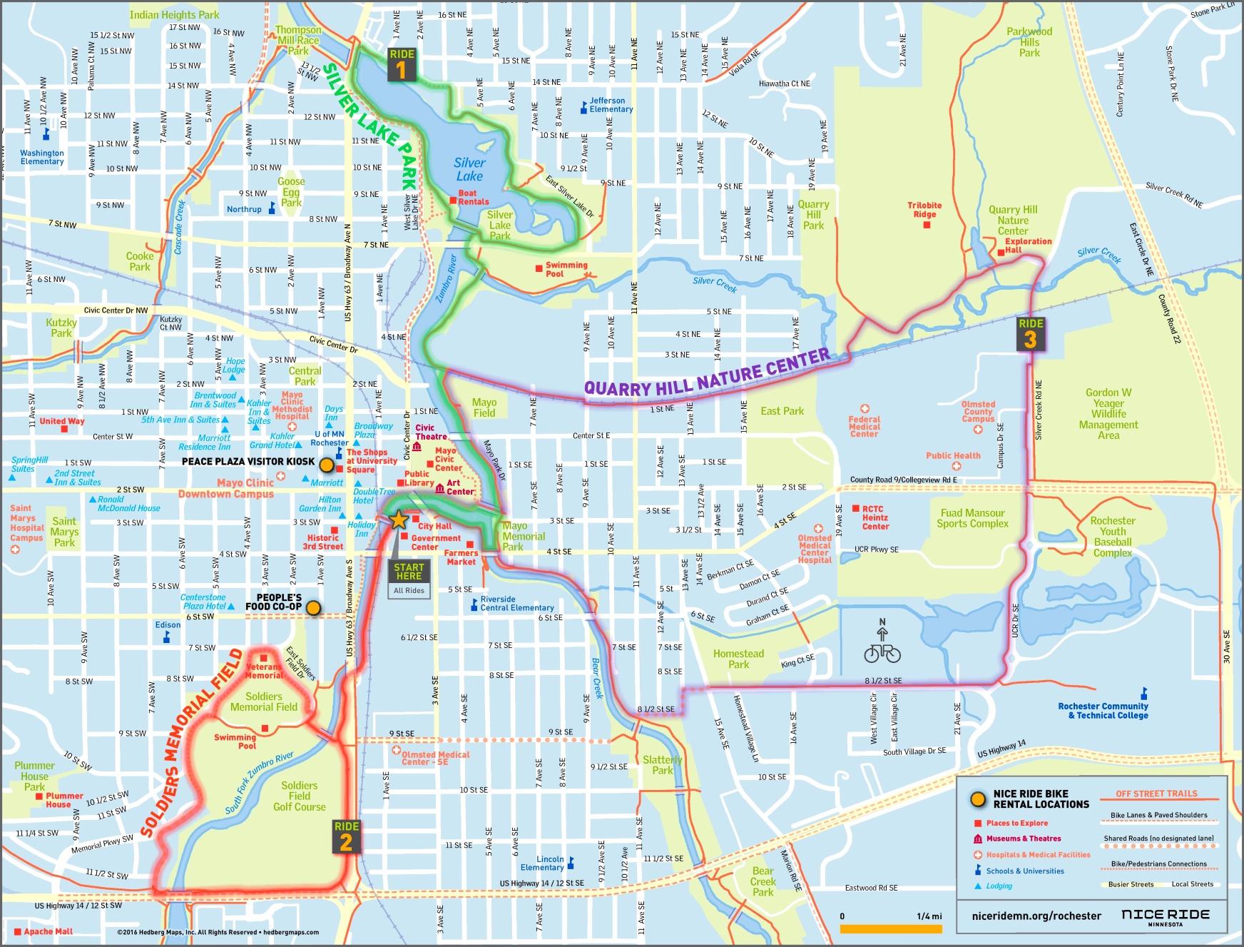 Map Of Rochester Mn Rochester (Minnesota) tourist map