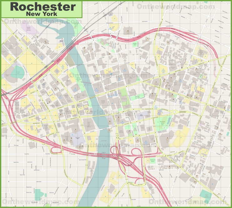 Rochester downtown map