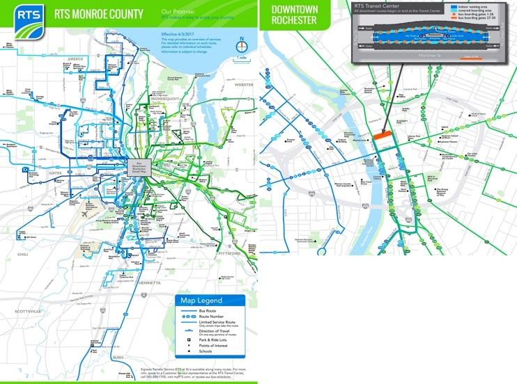Rochester transport map