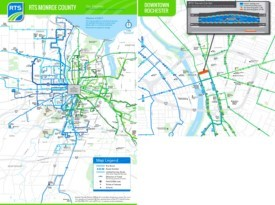Rochester transport map