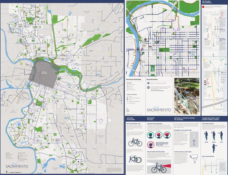 Sacramento bike map
