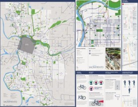 Sacramento bike map