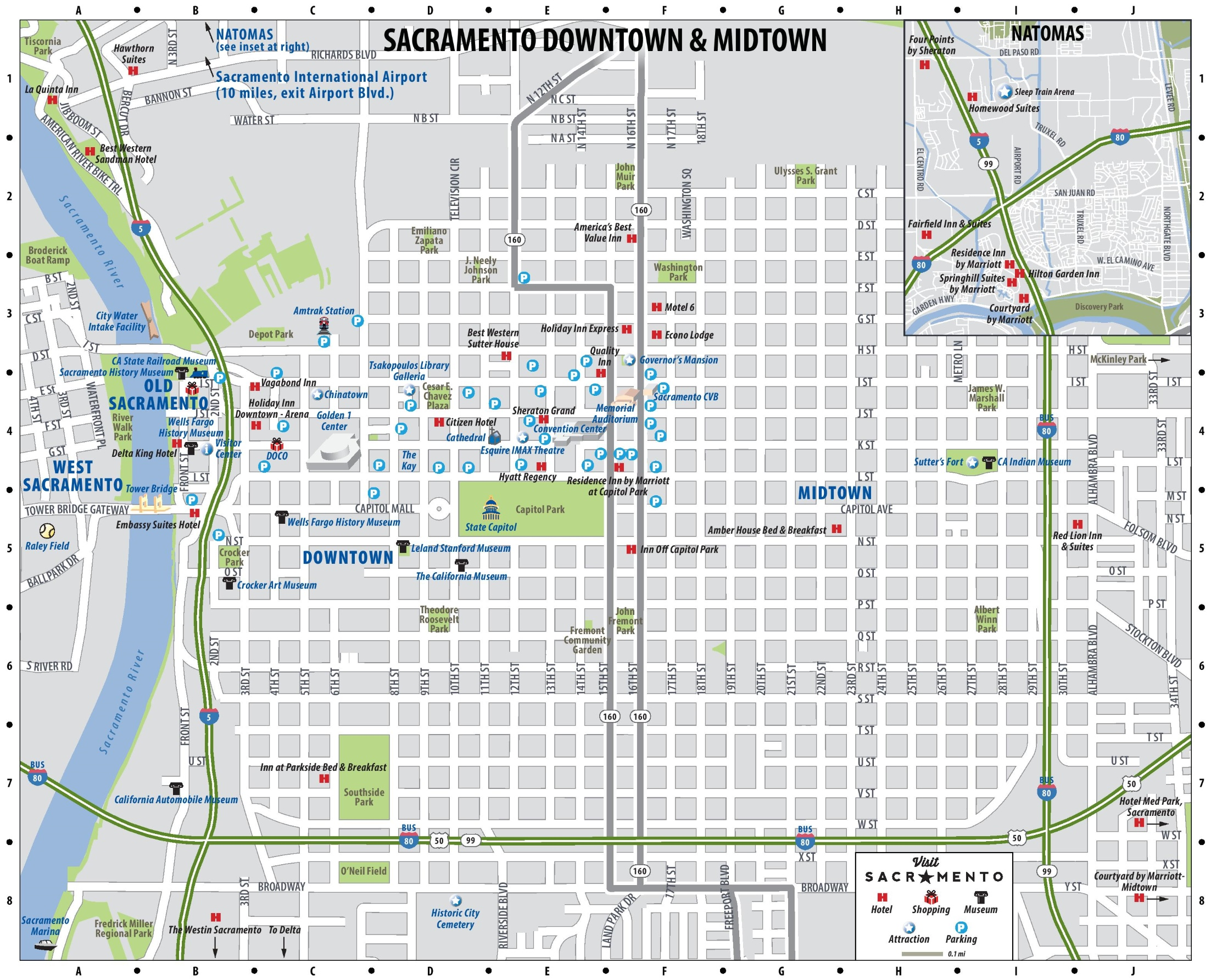 Map Of Downtown Sacramento downtown map Map Of Downtown