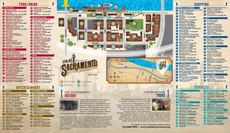 Sacramento old town map
