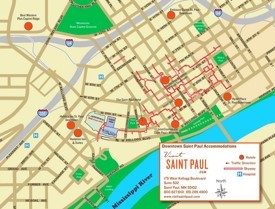 Saint Paul hotel map
