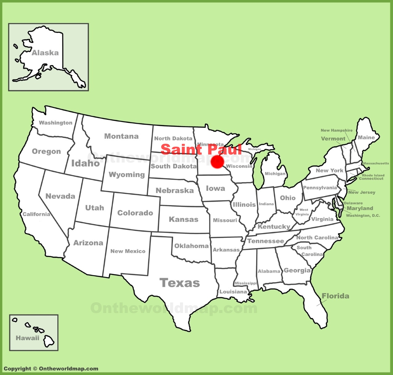 Saint Paul location on the US Map
