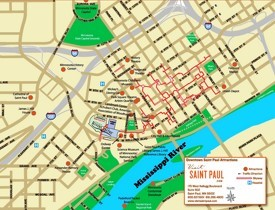 Saint Paul tourist attractions map