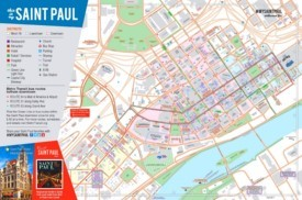 Saint Paul tourist map