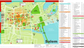 Salem hotels and sightseeings map