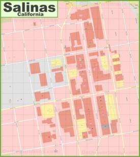 Salinas downtown map