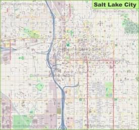 Large detailed map of Salt Lake City