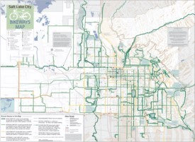 Salt Lake City bike map