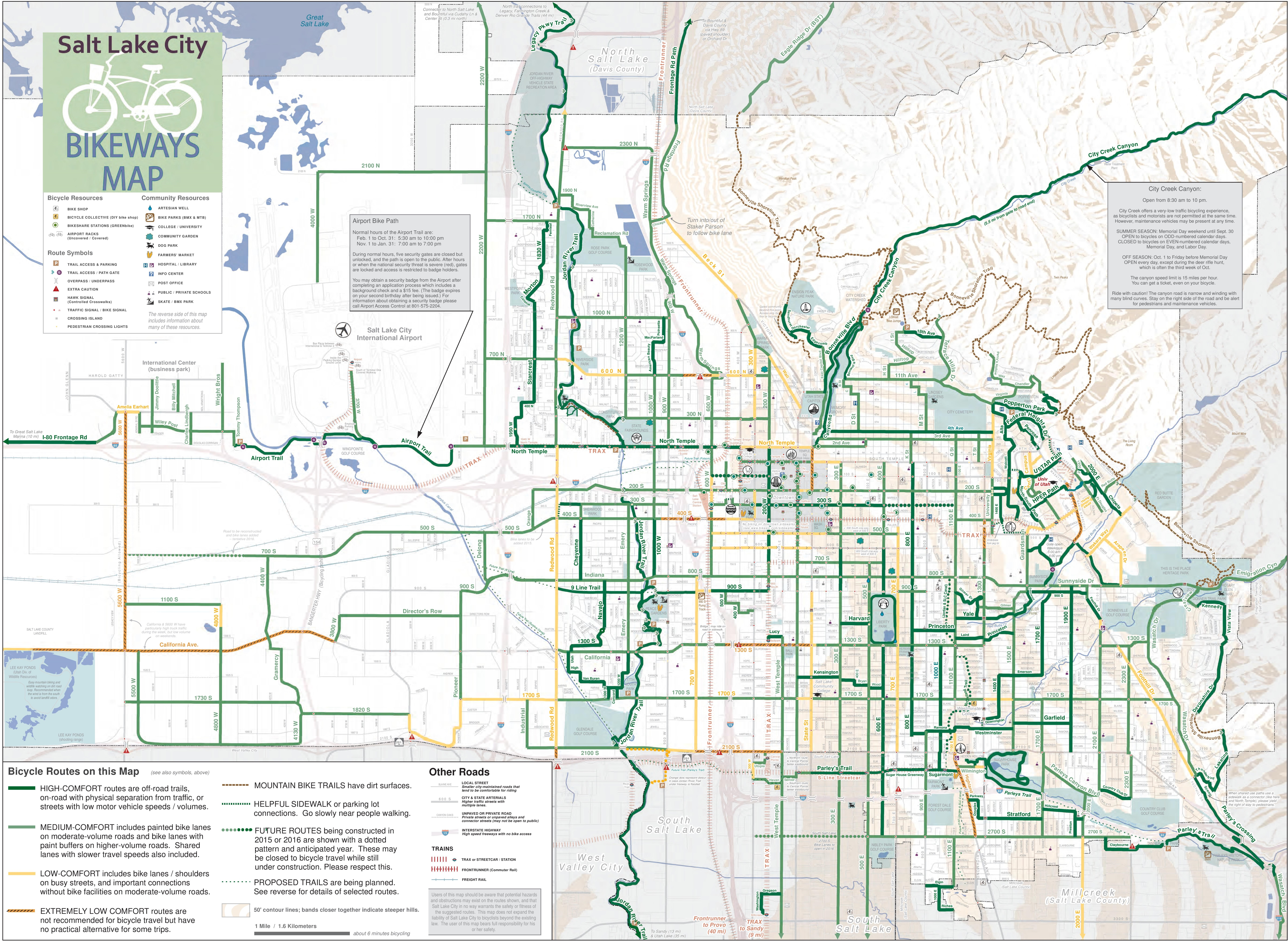Salt Lake City Bike Map