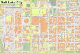 Salt Lake City downtown map