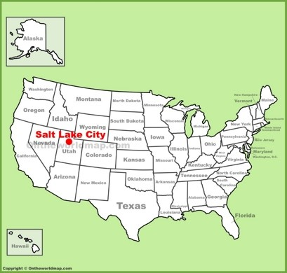 Salt Lake City Location Map