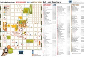 Salt Lake City tourist attractions map