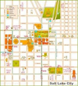 Salt Lake City tourist map
