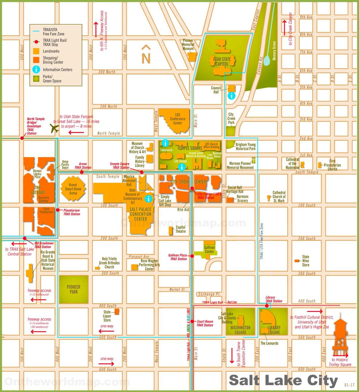 Salt Lake City tourist map Salt Lake City Map on san antonio map, denver map, north salt lake map, san francisco map, herriman map, oklahoma map, spokane map, honolulu map, canada map, new orleans map, paris map, united states map, indianapolis map, utah map, salt lake valley map, sacramento map, independence map, omaha map, santa fe map, salt lake county map,