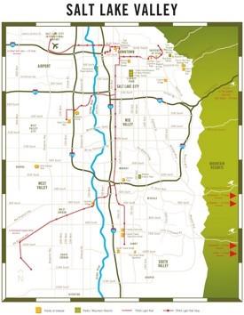 Salt Lake Valley map