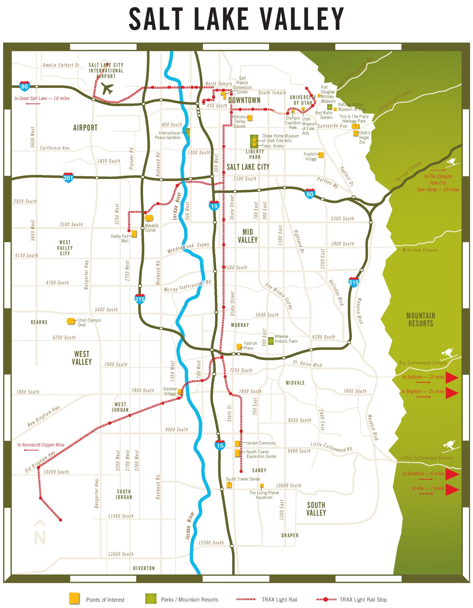 Map Of Salt Lake City Area Salt Lake Valley map