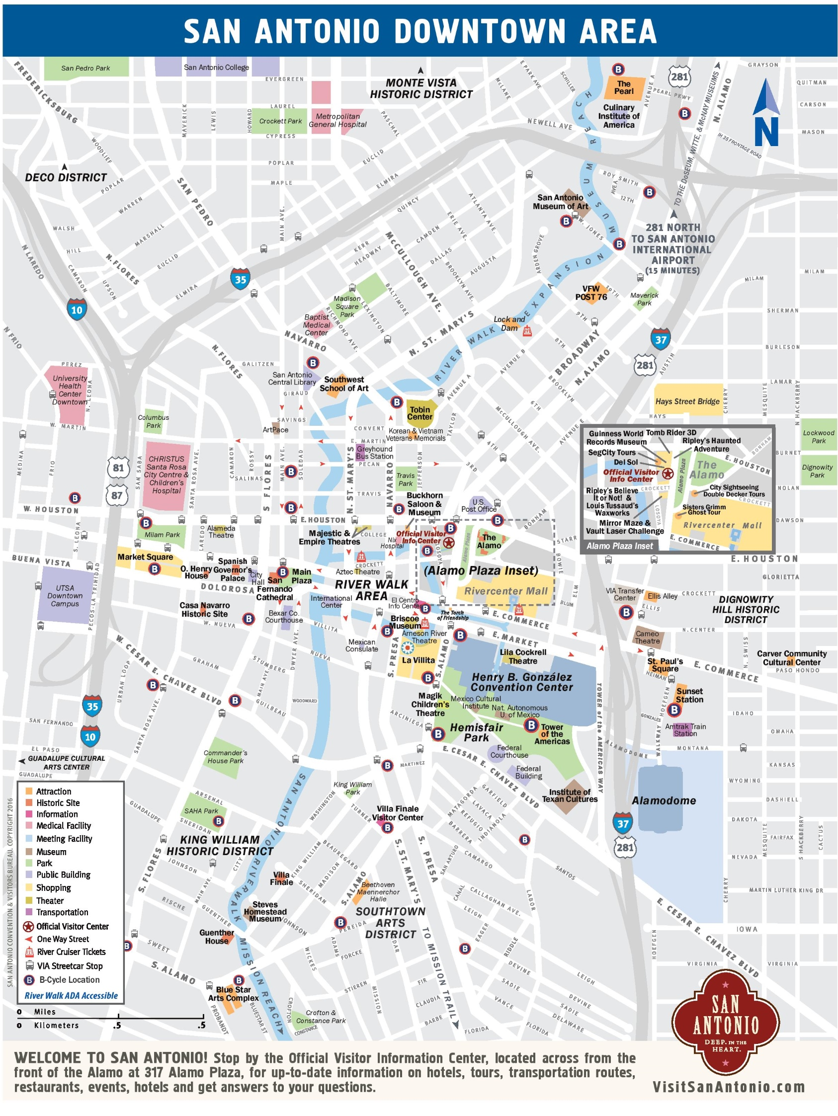 San Antonio downtown map