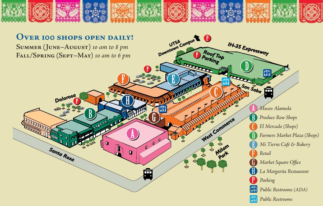 San Antonio Market Square Map