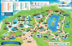 San Antonio SeaWorld map