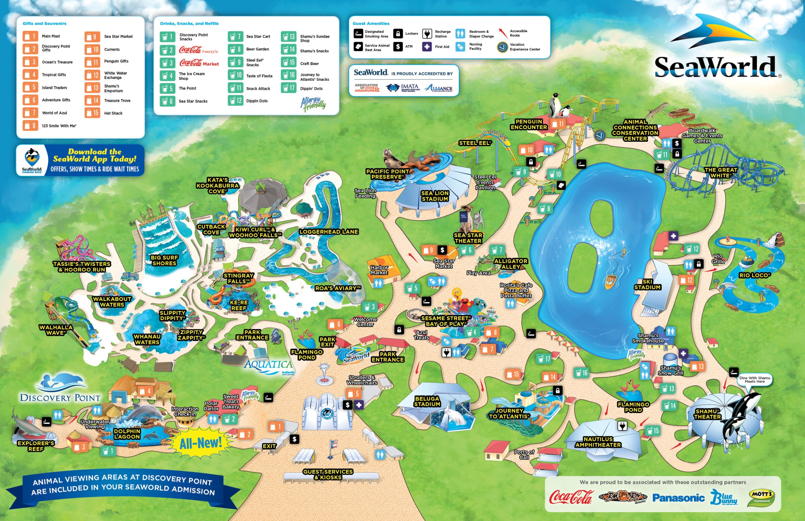 Seaworld San Go Theme Park Sea World Map